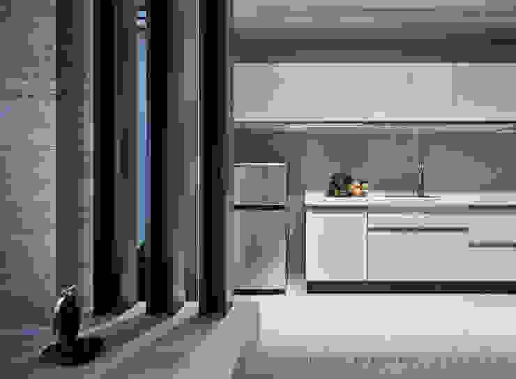廚房 Hi+Design/Interior.Architecture. 寰邑空間設計 餐廳 木頭 White