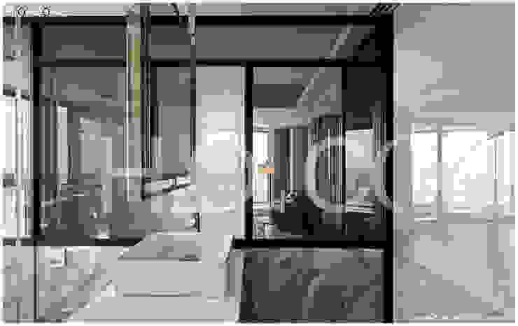 次臥室衛浴 現代浴室設計點子、靈感&圖片 根據 光合作用設計有限公司 現代風