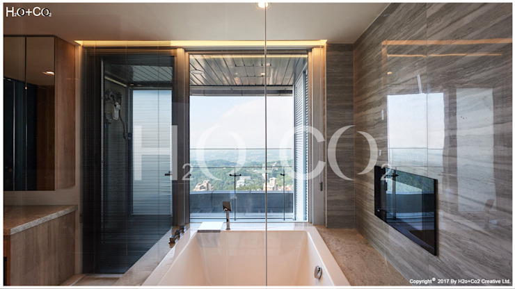 主臥室衛浴 現代浴室設計點子、靈感&圖片 根據 光合作用設計有限公司 現代風