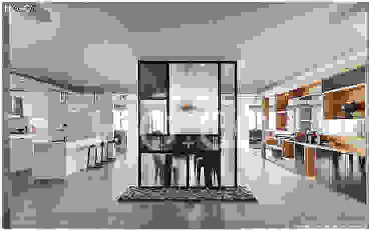 玄關 現代風玄關、走廊與階梯 根據 光合作用設計有限公司 現代風