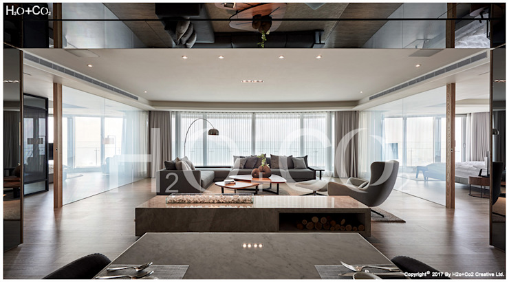 客廳 现代客厅設計點子、靈感 & 圖片 根據 光合作用設計有限公司 現代風