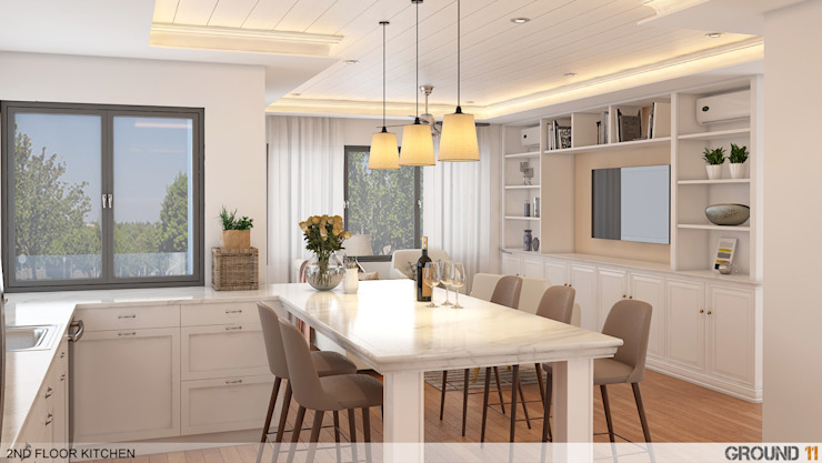 Modern dining room by Ground 11 Architects Modern