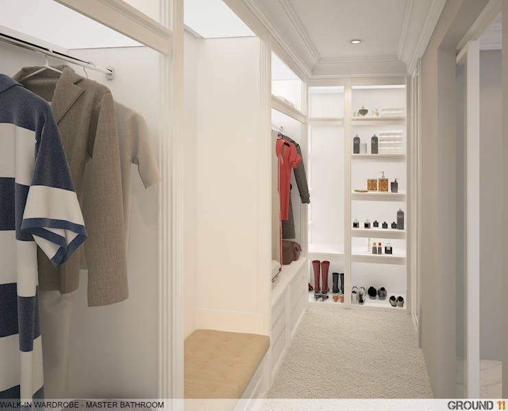 Closets modernos por Ground 11 Architects Moderno
