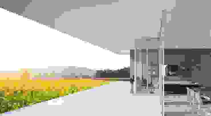 Simulação da sala - 1 Casas modernas por Nuno Ladeiro, Arquitetura e Design Moderno