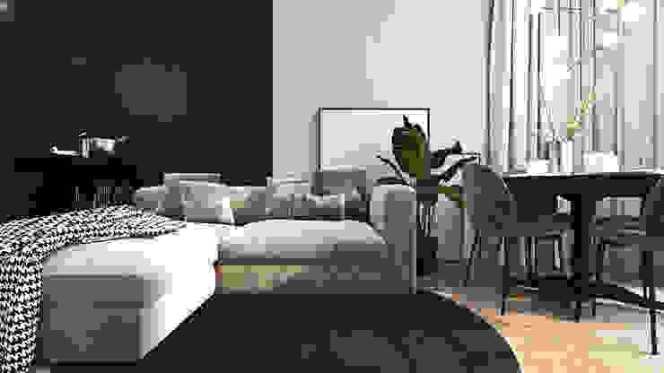 Nowoczesne wnętrza we Wrocławiu Nowoczesny salon od Ambience. Interior Design Nowoczesny