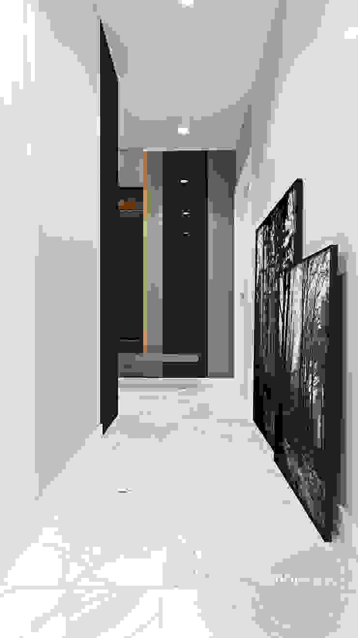 Nowoczesne wnętrza we Wrocławiu Nowoczesny korytarz, przedpokój i schody od Ambience. Interior Design Nowoczesny