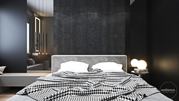 Nowoczesne wnętrza we Wrocławiu Nowoczesna sypialnia od Ambience. Interior Design Nowoczesny