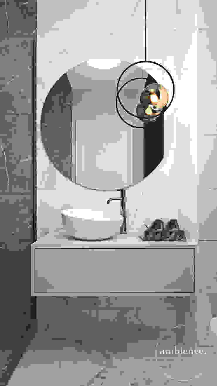 Nowoczesne wnętrza we Wrocławiu Nowoczesna łazienka od Ambience. Interior Design Nowoczesny