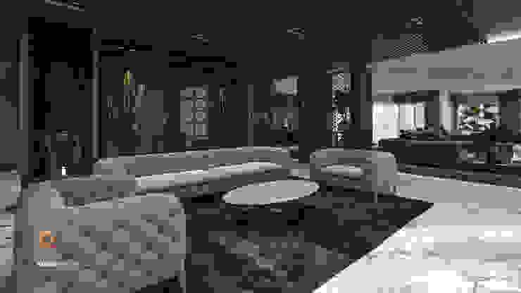 Living room by ICONIC DESIGN STUDIO