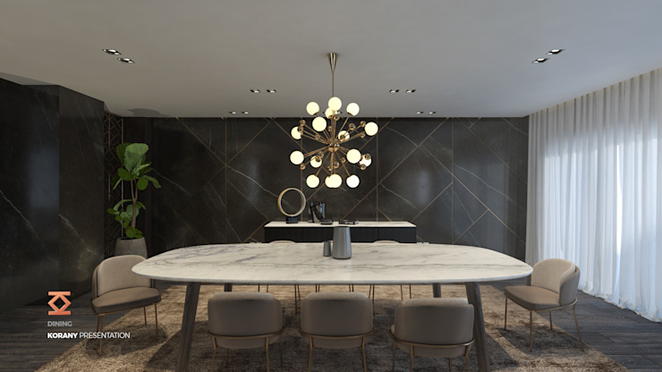 Dining Room Modern dining room by ICONIC DESIGN STUDIO Modern