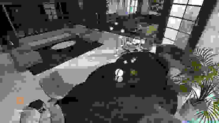 Salon Modern living room by ICONIC DESIGN STUDIO Modern