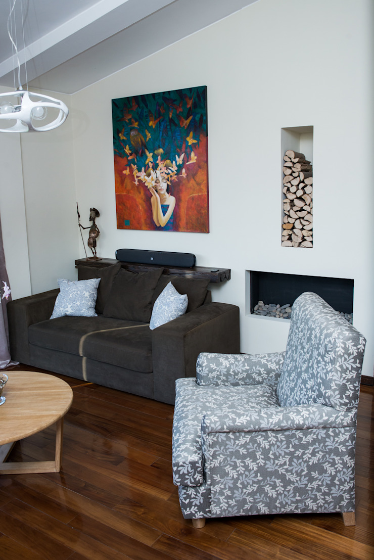Sala Salones de estilo clásico de Azul Clásico