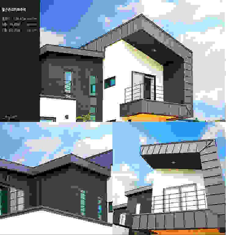 방안 곳곳 햇살가득한 집_테라스 모던스타일 주택 by 한글주택(주) 모던