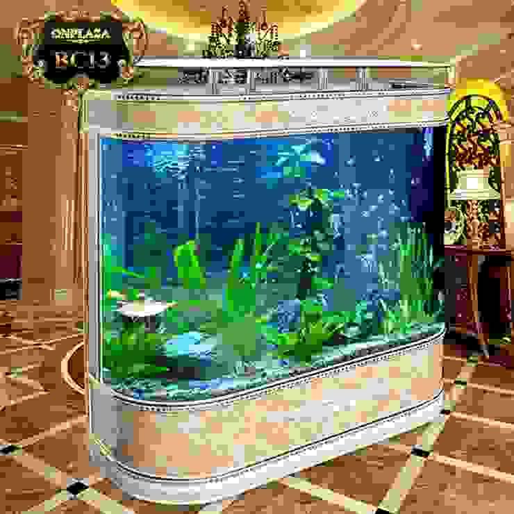 Bể cá thủy sinh mini thông minh có đèn led BC13 bởi Công Ty Thi Công Và Thiết Kế Tiểu Cảnh Non Bộ