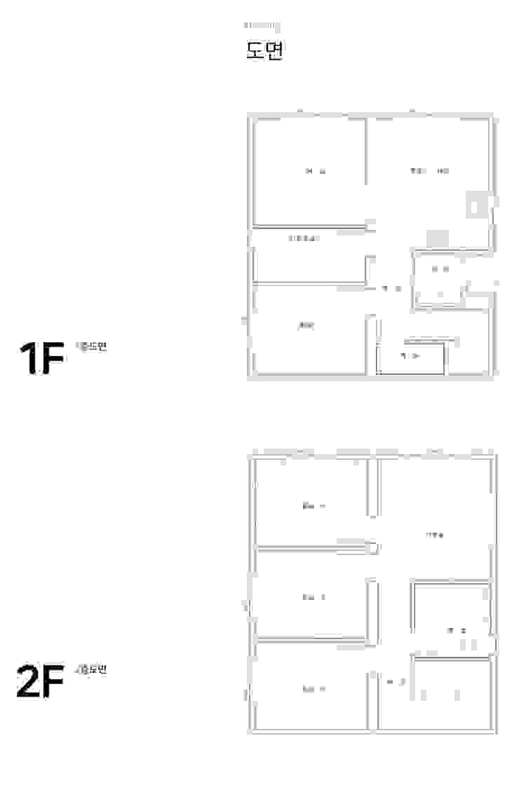 동네에서 최초로 지열보일러를 보유한 집_도면 모던스타일 거실 by 공간제작소(주) 모던 우드 우드 그레인