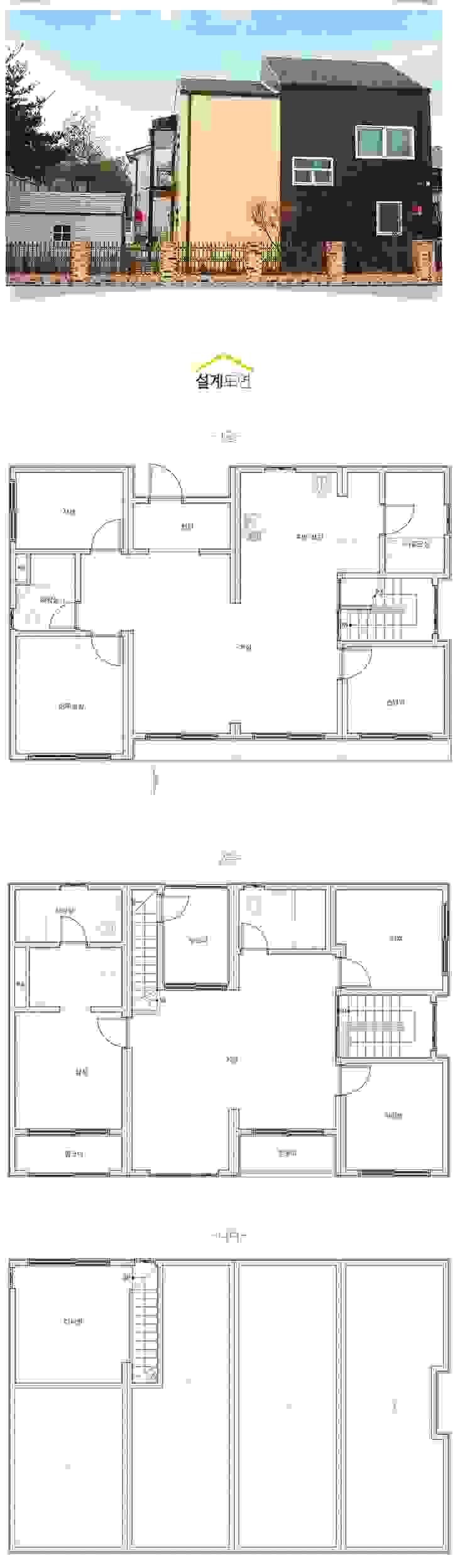 계절의 변화를 가장 먼저 느낄 수 있는 전원주택 모던스타일 미디어 룸 by 공간제작소(주) 모던
