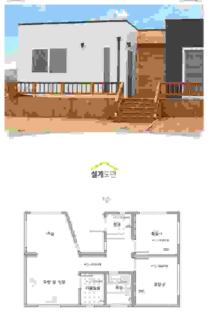 집의 본질을 생각한 미니멀리즘 전원주택_내부 미니멀리스트 주택 by 공간제작소(주) 미니멀