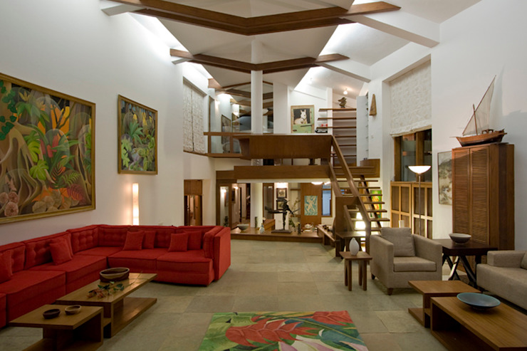 BEACH ESTATE : AKSHI, ALIBAG Asian style living room by Bric Design Group Asian