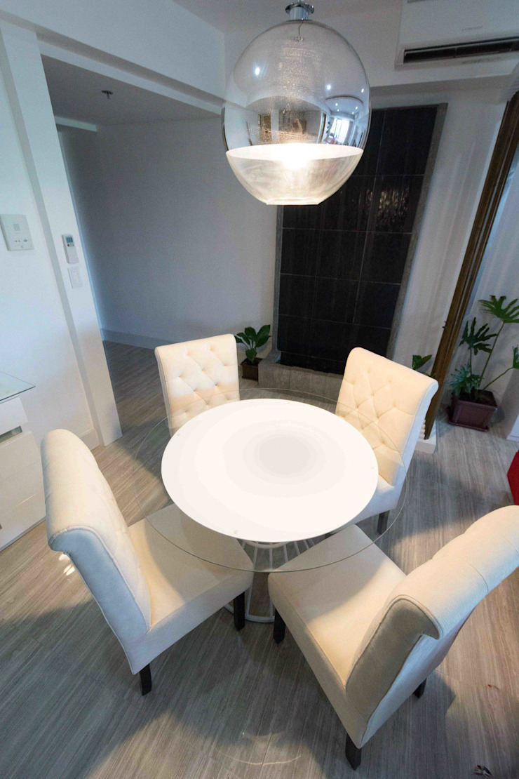 Botanika Nature Residences / Filinvest Group Modern dining room by TG Designing Corner Modern