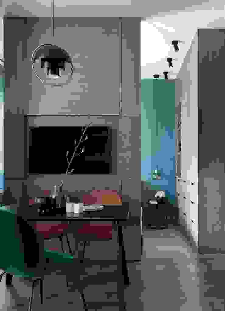 Small flat in Moscow 360 sq.ft Дизайн бюро Татьяны Алениной Modern Dining Room