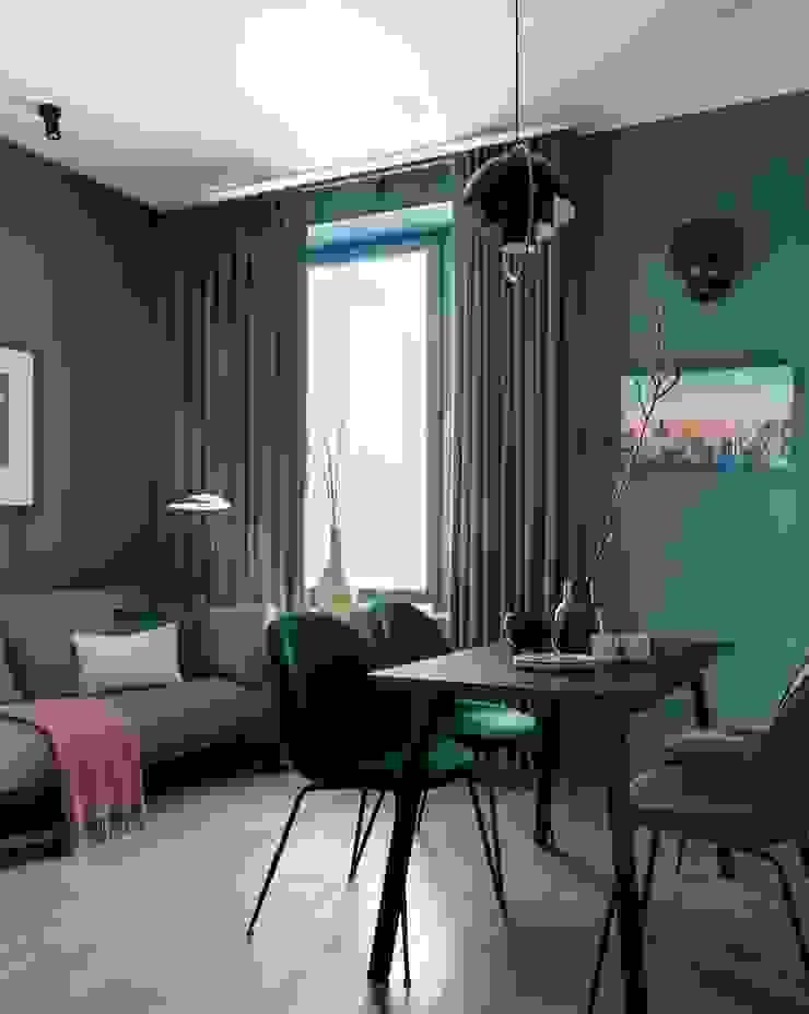 Small flat in Moscow 360 sq.ft Дизайн бюро Татьяны Алениной Modern Living Room