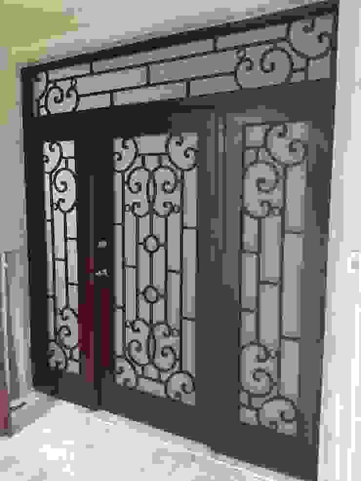 Herrería CHS Front doors Iron/Steel Wood effect