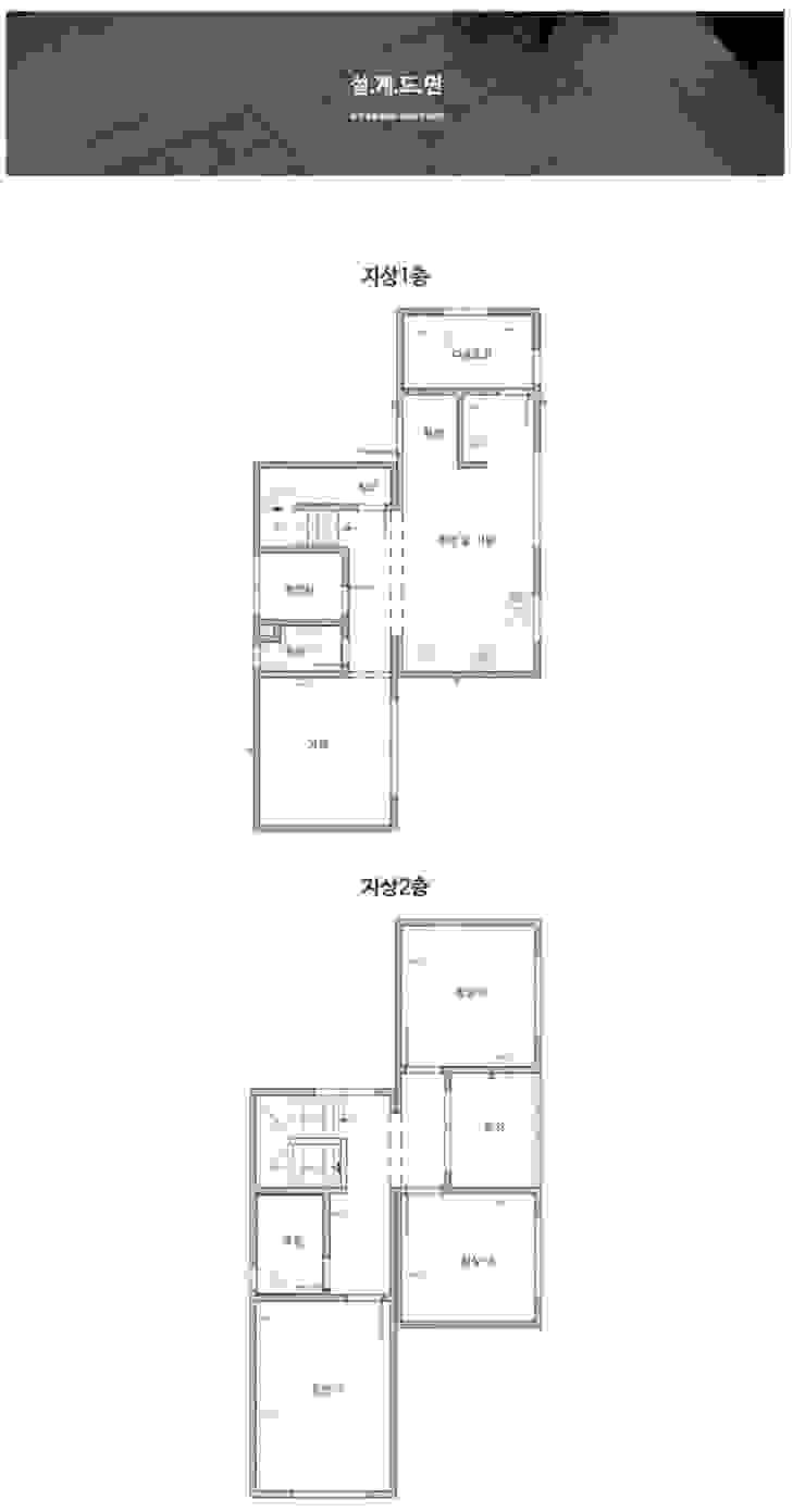 센스있는 심플함, 예쁜전원주택으로_도면 모던스타일 거실 by 공간제작소(주) 모던 세라믹