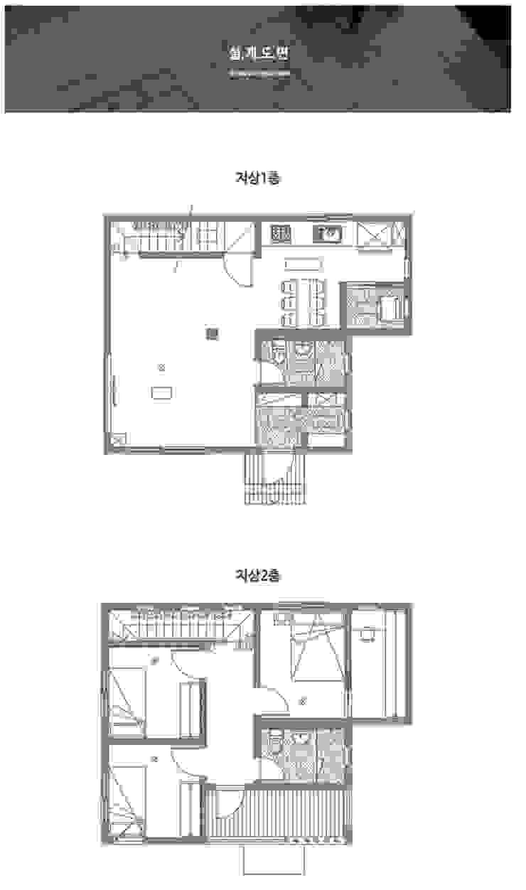 공기 순환이 좋은 구조. 센스있는 전원주택_도면 by 공간제작소(주) 모던 세라믹