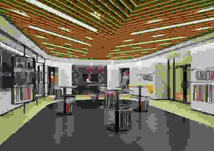 GSBC 섬유종합지원센터 쇼룸 투시도 모던 스타일 전시장 by Metaverse 모던