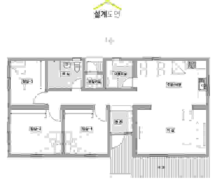 목조의 모던함을 보여주는 전원주택_도면 by 공간제작소(주) 모던 우드 우드 그레인