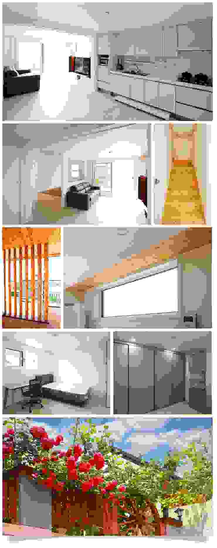 Salon moderne par 공간제작소(주) Moderne Bois Effet bois