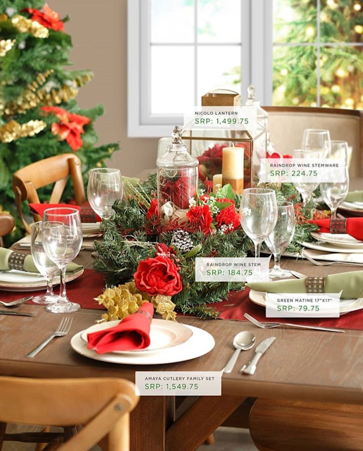Interior Styling for AllHome Christmas Catalog 2018 Country style dining room by Interiors by Corinne Bolisay Country