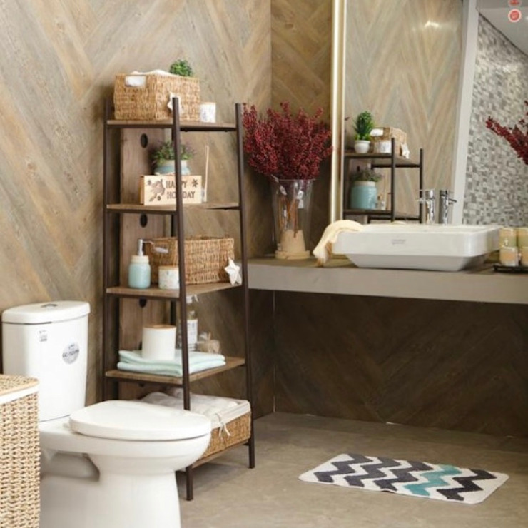 Country style bathrooms by Interiors by Corinne Bolisay Country