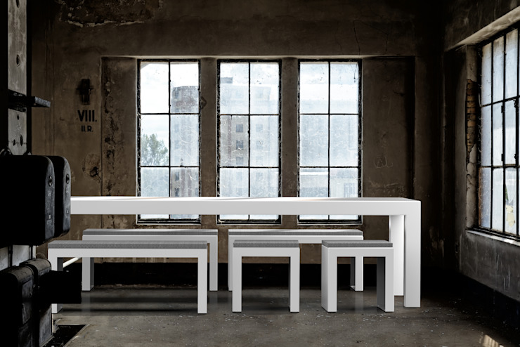ONE TO SIT - indoor & outdoor furniture JardinesMobiliario Aluminio/Cinc Blanco