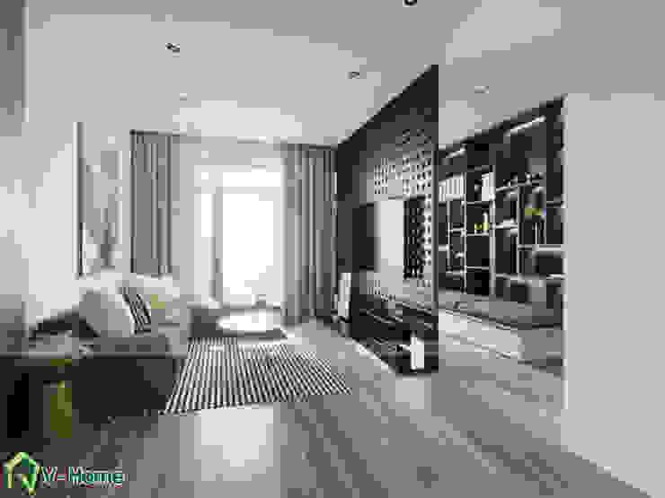 Phòng khách: hiện đại  by Công ty CP tư vấn thiết kế và xây dựng V-Home, Hiện đại