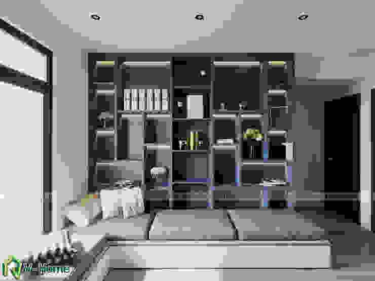 Phòng đọc sách: hiện đại  by Công ty CP tư vấn thiết kế và xây dựng V-Home, Hiện đại