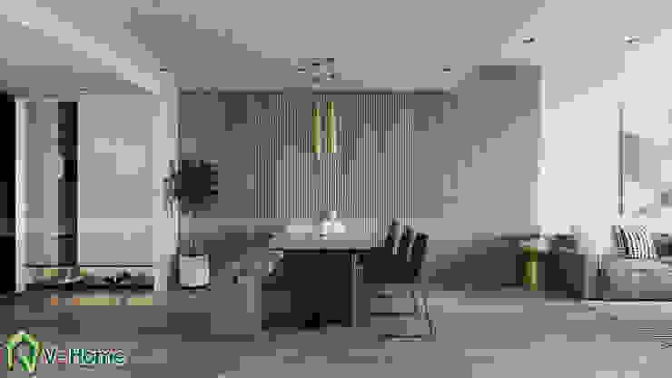 Khu vực bàn ăn : hiện đại  by Công ty CP tư vấn thiết kế và xây dựng V-Home, Hiện đại