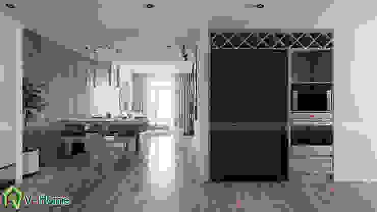 Lối vào căn hộ: hiện đại  by Công ty CP tư vấn thiết kế và xây dựng V-Home, Hiện đại
