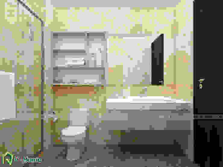 Thiết kế nhà vệ sinh: hiện đại  by Công ty CP tư vấn thiết kế và xây dựng V-Home, Hiện đại