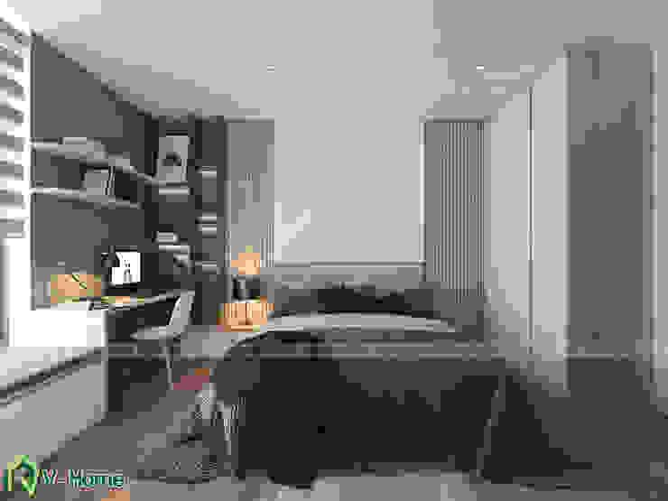 Nội thất phòng ngủ: hiện đại  by Công ty CP tư vấn thiết kế và xây dựng V-Home, Hiện đại