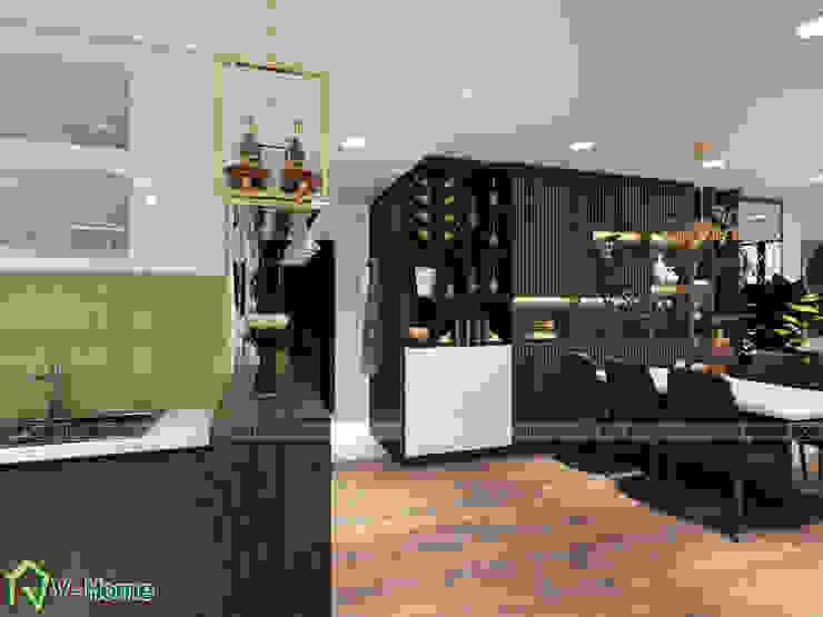 Bàn ăn và bếp: hiện đại  by Công ty CP tư vấn thiết kế và xây dựng V-Home, Hiện đại