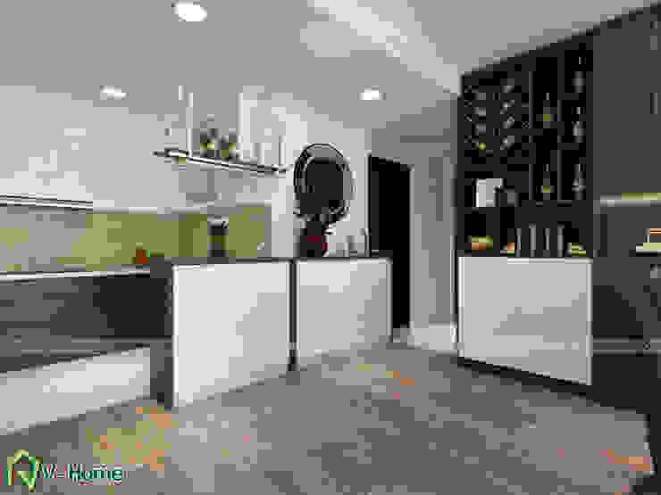 Bàn Bar nhà bếp: hiện đại  by Công ty CP tư vấn thiết kế và xây dựng V-Home, Hiện đại