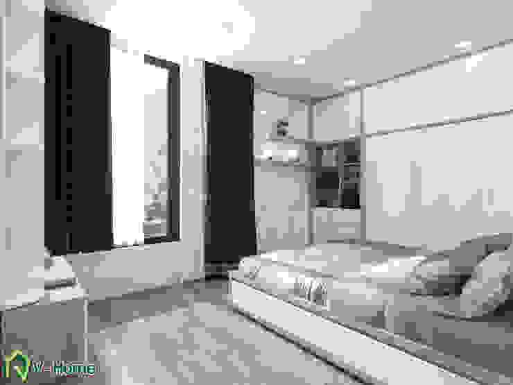 Phòng ngủ: hiện đại  by Công ty CP tư vấn thiết kế và xây dựng V-Home, Hiện đại