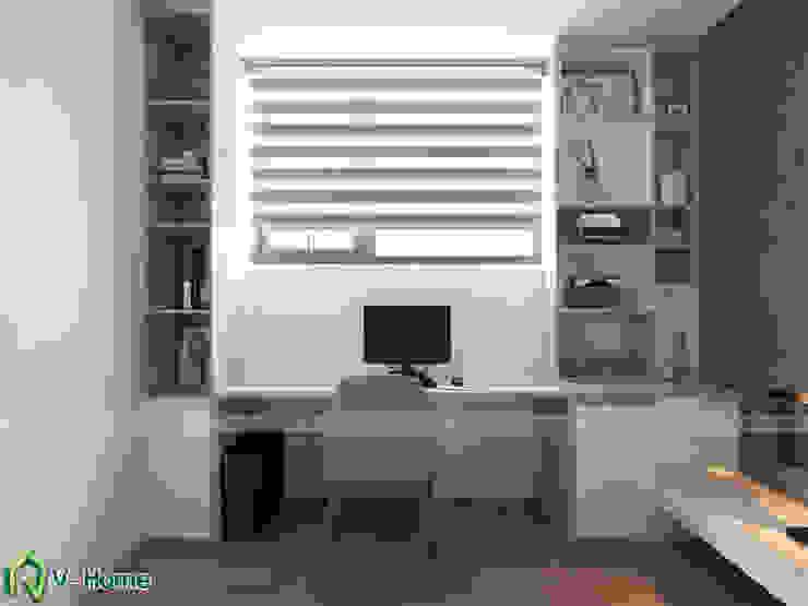 Bàm làm việc: hiện đại  by Công ty CP tư vấn thiết kế và xây dựng V-Home, Hiện đại