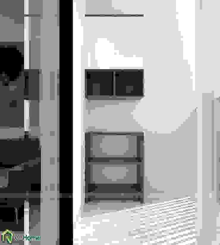Thiết kế nội thất chung cư Legend Tower – Ms Hiền: hiện đại  by Công ty CP tư vấn thiết kế và xây dựng V-Home, Hiện đại