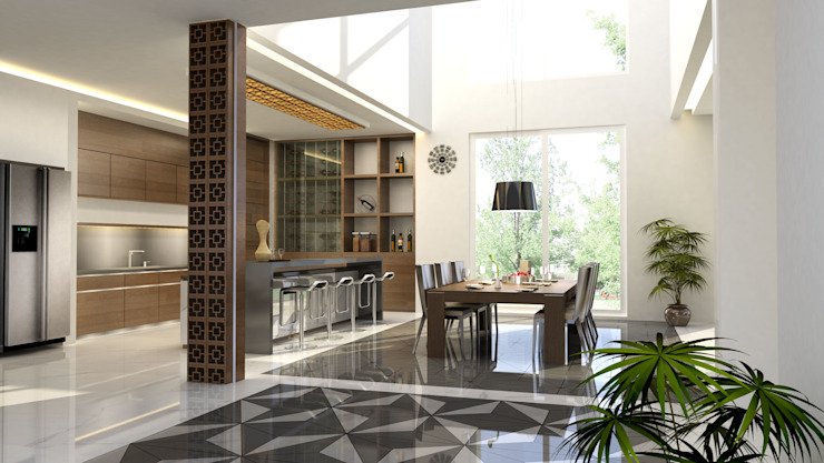 Mr.A House Jambi:modern  oleh CV Berkat Estetika, Modern Kayu Wood effect