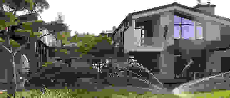 Вилла с садом в стиле модерн. КП Бенелюкс. 2012 г Сад в стиле модерн от ARCADIA GARDEN Landscape Studio Модерн