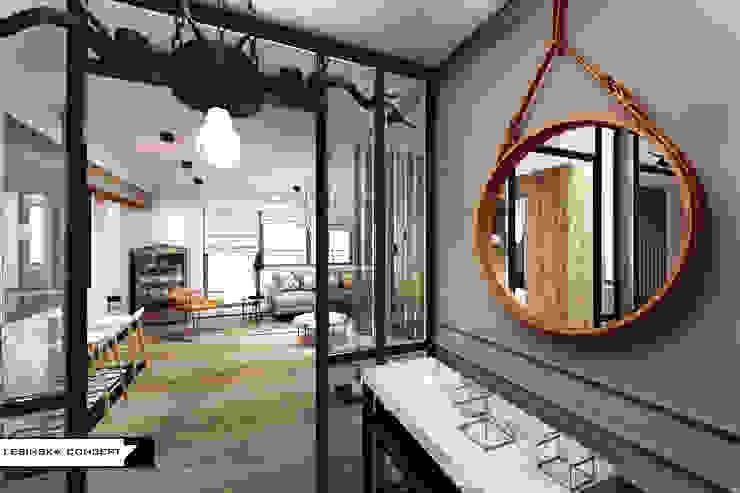 LESINSKA CONCEPT Pasillos, vestíbulos y escaleras de estilo rústico