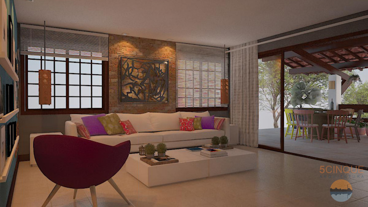 Country style living room by 5CINQUE ARQUITETURA LTDA Country