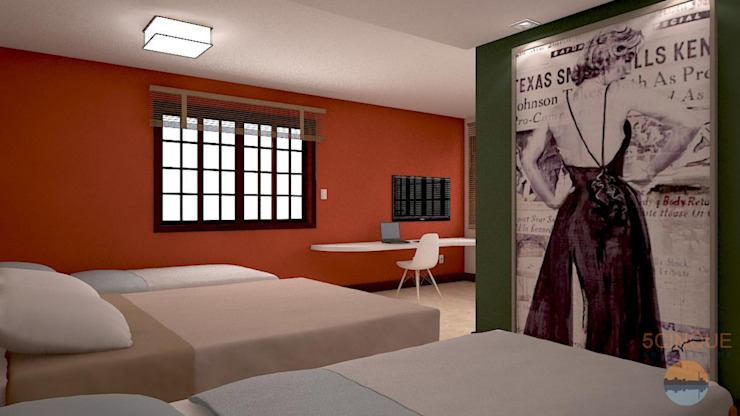 Country style bedroom by 5CINQUE ARQUITETURA LTDA Country